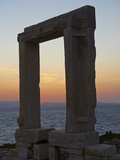 Gateway, Temple of Apollo, at the Archaeological Site, Naxos, Cyclades Islands, Greek Islands, Aege Photographic Print by  Tuul