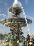 Fountain at Place De La Concorde, Paris, France, Europe Photographic Print by Richard Nebesky