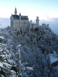 Neuschwanstein Castle in Winter, Schwangau, Allgau, Bavaria, Germany, Europe Photographic Print by Hans-Peter Merten
