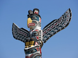 The Top of a Totem Pole, Stanley Park, Vancouver, British Columbia, Canada, North America Photographic Print by Martin Child
