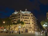 Casa Mila (La Pedrera), by Antoni Gaudi at Dusk, Passeig De Gracia, Barcelona, Catalonia, Spain, Eu Photographic Print by Sergio Pitamitz