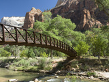 The Virgin River, Foot Bridge to Access the Emerald Pools, Zion National Park, Utah, United States  Photographic Print by Richard Maschmeyer