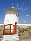 Bonis Windmill at the Folklore Museum in Mykonos Town, Island of Mykonos, Cyclades, Greek Islands,  Photographic Print by Richard Cummins