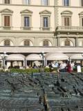 Cafe Paszkowsky and Bronze Model of Florence City Centre, Piazza Della Repubblica, Florence, Tuscan Photographic Print by Nico Tondini