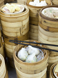 Dim Sum Preparation in a Restaurant Kitchen in Hong Kong, China, Asia Photographie par Gavin Hellier
