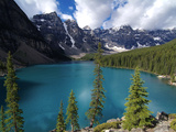 Moraine Lake, Valley of the Ten Peaks, Banff National Park, UNESCO World Heritage Site, Alberta, Ro Photographic Print by Hans-Peter Merten