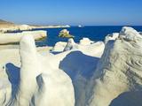 Sarakiniko Lunar Landscape, Sarakiniko Beach, Milos, Cyclades Islands, Greek Islands, Aegean Sea, G Photographic Print by  Tuul
