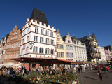 Market Square, Old Town, Trier, Rhineland-Palatinate, Germany, Europe Photographic Print by Hans-Peter Merten