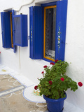 Blue Shutters, Plaka, Old Village, Milos, Cyclades Islands, Greek Islands, Greece, Europe Photographic Print by  Tuul