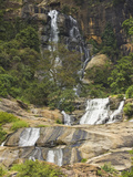 Rawana (Ravana) Falls, a Popular Sight by the Highway to the Coast as it Drops Thru Ella Gap, Ella, Photographic Print by Rob Francis