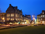 Bettys and Parliament Street at Dusk, Harrogate, North Yorkshire, Yorkshire, England, United Kingdo Photographic Print by Mark Sunderland