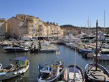 Vieux Port Harbour, St. Tropez, Var, Provence, Cote D'Azur, France, Mediterranean, Europe Photographic Print by Peter Richardson