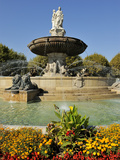 Fontaine De La Rotonde (Rotunda Fountain), Aix-En-Provence, Bouches-Du-Rhone, Provence, France, Eur Photographic Print by Peter Richardson