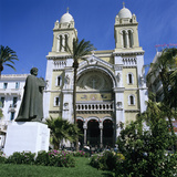 The Cathedral Along Avenue Bourguiba, Tunis, Tunisia, North Africa, Africa Photographic Print by Stuart Black