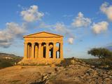 Tempio Di Concordia (Concord) at Sunset, Valle Dei Templi, UNESCO World Heritage Site, Agrigento, S Photographic Print by Stuart Black