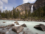 Kicking Horse River and Takakkaw Falls, Yoho National Park, UNESCO World Heritage Site, British Col Photographic Print by Martin Child