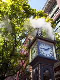 The Steam Clock on Water Street, Gastown, Vancouver, British Columbia, Canada, North America Photographie par Martin Child