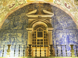 Porta Da Vila Oratory, Within the City Gate, Decorated with Azulejo Tiles, Illuminated at Night, Ob Photographic Print by Stuart Forster