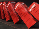 British Red K2 Telephone Boxes, David Mach's Out of Order Sculpture, at Kingston-Upon-Thames, a Sub Photographic Print by Stuart Forster