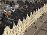 Rooftops and Flemish Baroque Facades Face onto the Petite Place (Place Des Heros), Arras, Nord-Pas  Photographic Print by Stuart Forster