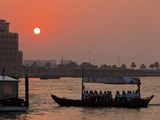 Abra Water Taxi, Dubai Creek at Sunset, Bur Dubai, Dubai, United Arab Emirates, Middle East Photographic Print by Neale Clark