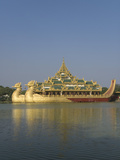 Karaweik Barge, Kandawgyi Lake, Yangon (Rangoon), Myanmar (Burma), Asia Photographic Print by Richard Maschmeyer