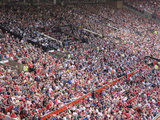 Crowds at English Premiership Football Match Between Manchester United and Fulham, Old Trafford, Ma Photographic Print by Ruth Tomlinson