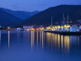Waterfront at Dusk at the Newly Developed Marina in Porto Montenegro with Mountains Behind, Montene Photographic Print by Martin Child