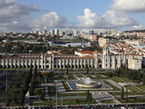 The Manueline Hieronymites Monastery, UNESCO World Heritage Site, on Empire Square, Belem, Lisbon,  Photographic Print by Stuart Forster