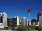 City Skyline and Calgary Tower, Calgary, Alberta, Canada, North America Photographic Print by Hans-Peter Merten