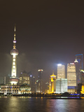 Pudong Financial District and Oriental Pearl Tower across the Huangpu River, Shanghai, China, Asia Photographic Print by Amanda Hall