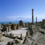 Ruins of Ancient Roman Baths, Antonine Baths, Carthage, UNESCO World Heritage Site, Tunis, Tunisia, Photographic Print by Stuart Black