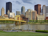 Andy Warhol Bridge (7th Street Bridge) and Allegheny River, Pittsburgh, Pennsylvania, United States Photographic Print by Richard Cummins