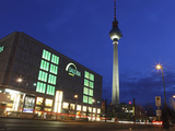 Galeria Kaufhof Department Store and the Television Tower (Berliner Fersehturm) at Alexanderplatz,  Photographic Print by Stuart Forster