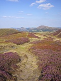 Views over Caradoc, Lawley and the Wrekin from the Long Mynd, Church Stretton Hills, Shropshire, En Photographic Print by Peter Barritt