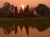 Ben Pipe - Wat Mahathat, Sukhothai Historical Park, UNESCO World Heritage Site, Sukhothai Province, Thailand,  Fotografická reprodukce
