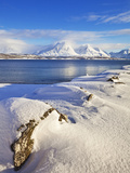 Breivikeidet, Looking across Ullsfjord, Towards the Southern Lyngen Alps, Troms, Norway, Scandinavi Photographic Print by Neale Clark