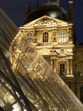 Louvre Reflections in Glass Pyramid at Twilight, Rue De Rivoli, Paris, France, Europe Photographic Print by Richard Nebesky