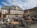 The Marktplatz (Market Square) and Town Hall, Old Town, Heidelberg, Baden-Wurttemberg, Germany, Eur Photographic Print by Michael DeFreitas