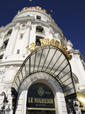Detail, Hotel Le Negresco, Promenade Des Anglais, Nice, Alpes Maritimes, Provence, Cote D&#39;Azur, Fre Photographic Print by Peter Richardson