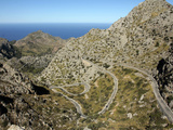 Serpentine Road to Sa Calobra, Mallorca, Balearic Islands, Spain, Mediterranean, Europe Photographic Print by Hans-Peter Merten