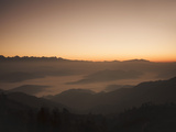 Himalayas at Sunrise, Near Ngarkot, Bagmati, Nepal, Asia Photographic Print by Mark Chivers