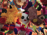 Pinatas, Market, Xochimilco, Mexico City, Mexico, North America Fotografie-Druck von Wendy Connett