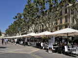 Alfresco Restaurants, Place De L'Horloge, Avignon, Provence, France, Europe Photographic Print by Peter Richardson