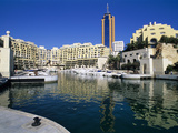 Portomaso Marina with Exclusive Apartments, Paceville, St. Julian`S, Malta, Mediterranean, Europe Photographic Print by Stuart Black