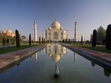 Taj Mahal, UNESCO World Heritage Site, Agra, Uttar Pradesh, India, Asia Fotografisk tryk af Ben Pipe