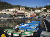 View over Fishing Harbour, Santa Maria La Scala, Sicily, Italy, Mediterranean, Europe Photographic Print by Stuart Black