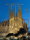 Sagrada Familia at Dusk, UNESCO World Heritage Site, Barcelona, Catalonia, Spain, Europe Photographic Print by Sergio Pitamitz