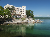 View Along Promenade, Opatija, Kvarner Gulf, Croatia, Adriatic, Europe Photographic Print by Stuart Black