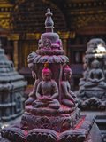 Buddha Statue at Swayambunath Temple, UNESCO World Heritage Site, Kathmandu, Nepal, Asia Photographic Print by Mark Chivers
